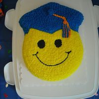 Smiley Face Graduation Graduation cake for neice's high school graduation.