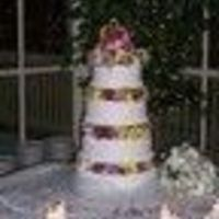 Devine Wedding All buttercream with stucco effect and fresh flowers.