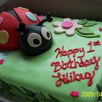 L's Cake Ladybug is red velvet. Bottom cake is carrot. All covered in fondant. The antennae are made out of gumpaste. Thanks for looking!