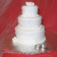 "Miniature Wedding Cake I made this cake for my husband and I celebrating our second year of marriage. It is a miniature cake with 2"", 3"" and 4""..."