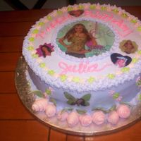 Hannah Montanta Cake Grandaughter's 5th birthday...yellow cake ....stawberry filling