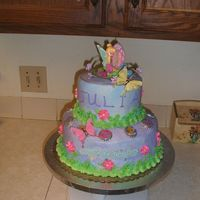 Tinkerbell Cake Modified version of the one in the Wilton Book Tinkerbell cake Grandaughters fouth birthday