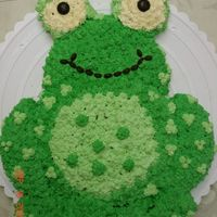 Froggy This is a cake I helped a friend do for her daughters Birthday. it was cut and pieced.