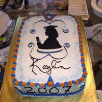 Gradcake_009.jpg Here's my first graduation cake using b/c & royal frostings w/ strawberry perserves inside. Man, was this one heavy cake to carry...