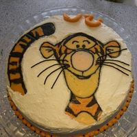 Tigger Birthday Cake This is the cake I made for my brothers 30th birthday yesterday (he's a baker btw). It's another traditional Danish layered cake...