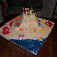 "Sandcastle Cake I made this cake for my niece's 1st Birthday. The ""sand"" is crushed vanilla wafers. Most of the toys I found at the dollor..."