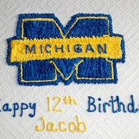 Michigan This was a last minute cake for a 12 year-old. It's a chocolate cake with Extra Buttercream Frosting. Go Blue!