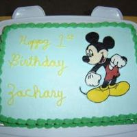 Mickey Mouse Mickey Mouse 1st birthday cake