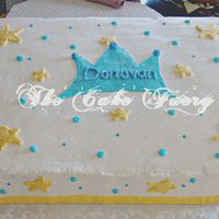 Donovan Cake order for a cake similar to my grandson's 1st Birthday cake. But, in a sheet cake. This is what I came up with.Buttercake with...