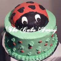 Luvbug This is a ladybug cake I did for my daughters birthday. I call her my LuvBug so naturally I made a ladybug cake.