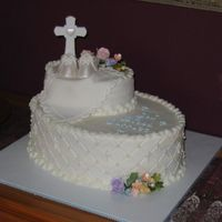 Garrett's Baptism Cake   a cake I made for my son's baptism