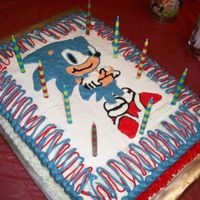 Sonic The Hedgehog Sonic the hedgehog cake for my nephews birthday
