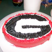 Uga Playing around one night. Thought I'd make a UGA cake.