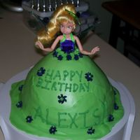 Tinkerbell tinkerbell cake for my cousins little girl