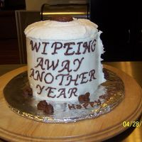 Wiping Away Another Year! A last min b day cake I know spelling is wrong but did not notice till i took the picture :O( one of those days but it is a yellow butter...