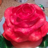 Red Rose Seriously i just love making this cake...it really comes out so beautiful!!! but while i am doing it it just looks like a mess!!! hahahahah...