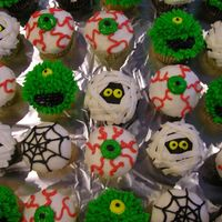 Halloween Cupcakes This is a selection of cupcakes I did for the local Fire Station where my brother will be working when he gets done with fire school. I...