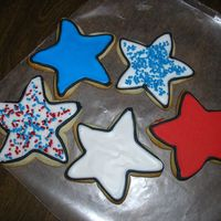 More 4Th Of July Cookies Just a sample of how I did most of my cookies for the holiday. Simple but I thought they turned out cute! Any suggestions/comments welcome...