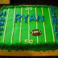 Football Birthday A cake I did for my little brothers birthday. Not as good as the one I did for him last year but I ran out of time. I think he liked it...