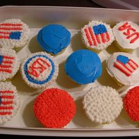 Red, White And Blue Just some cupcakes I did for the weekend. I didnt have a lot of time so they didnt come out super cute, but they were eaten within 30 min...
