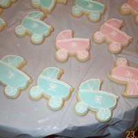 Baby Shower Cookies This was my first attempt at making these carriages. Please give me your honest opinions - as I value them completely!!!