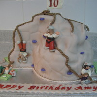 Indoor Rock Climbing Wall MMF choc cake. For a girl who does little else in her spare time!! My DGD.