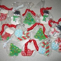 Christmas Cookies sugar cookies covered in royal icing with sugar accents.