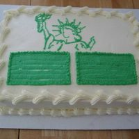 Lady Liberty I made this cake for two of my Indian friends who just got their green card. So I did congratulate them with this cake!
