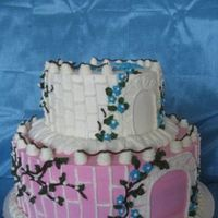 Princess Castle Cake I just took a picture without princess cake toppers. I will post a picture with princesses soon.I hope this cake looks like a castle....