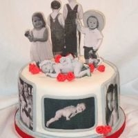 Photo Cake Made for a photographer. Fondant cake with gumpaste people. Pictures by Elizabeth Yarborough.