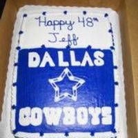 Dallas Cowboys   This was a fun cake to do. Obviously he loves the cowboys! The letters were a bit of a challenge.
