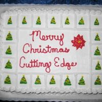 Christmas Time  My grandfather ordered this cake for his carry in at work. He works at a machine shop. Thought it turned out pretty cool. Love the...