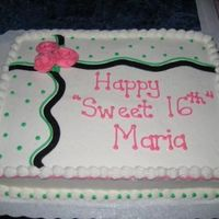 Polka Dots  I saw this cake on this site and pretty much just duplicated it. I had a lot of compliments on it, so wanted to share. Thanks for the...