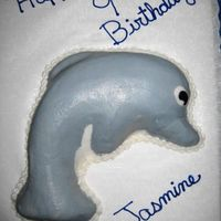 Dolphin Cake I made this cake for a friend's daughter. Didn't turn out the greatest, but I guess it worked! :)