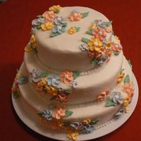 Pastel Flowers Wedding Shower All Buttercream.