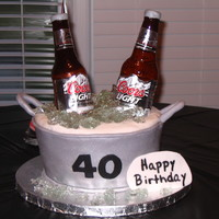 Coors Beer Bottle Cake Make this cake for my husband 40th b-day. Big thanks to Amy for her tutorial. My husband and friends were amazed. This is my first beer...