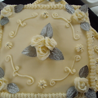 60Th Wedding Anniversary They wanted a cake to look like there wedding cake 60 years ago!