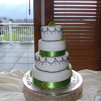 Green/ Black Wedding