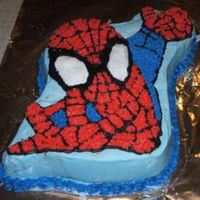 Spiderman Birthday Cake not my best work - but good practice