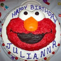 Elmo Cake   I made this cake for my 2 year old niece, she loves Elmo!