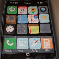 I Phone iPhone cake. when i got the order I thought that it would be pretty easy...I was wrong the cake took me two days to decorate. I am happy...