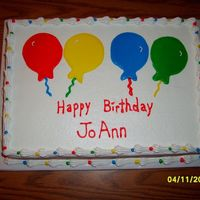 Balloons Birthday Cake Iced in BC. Balloons are filled in using glaze method.