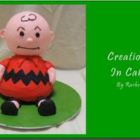 Good Grief   This is my second attempt at a 3D cake. My mom absolutely LOVES Charlie Brown. Hopefully she's going to love him as a cake too.