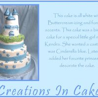 Castle Cake   This is another castle. White cake, white buttercream, fondant accents.