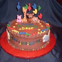 Happy Birthday Animals I was VERY worried about this cake b/c the woman was extremely specific about what she wanted! She also specified she wanted it to seem...