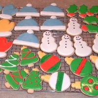 First Batch Of Christmas Cookies This is a batch of cookies I made to take to the staff at my grandmother's nursing home. No fail cookies, Antonia74's icing and...