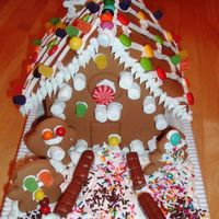 My Daughter's First Gingerbread House This g-house kit was done by my 5 year old. I was in charge of the bag of icing but she told me where to put it! I let her do all the...