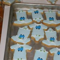 Onesie Cookies Onesie cookies for an office baby shower. No fail recipe with Antonia's icing - Turned out awesome and tasted even better. I actually...