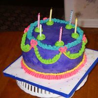 Whimsical Birthday Cake My BDay Cake inspired by the Whimsical BakehouseChcolate Better than ? cake with oreo cookies n cream filling and IMBC frosting. It was...