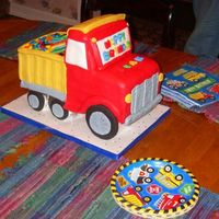 "Evan's Birthdayy Cake My son's 2nd birthday party cake. He sais ""beep beep"" when he saw it. And he really liked it (especially the m&ms in the..."